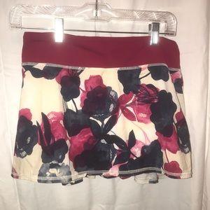 Floral lululemon skirt